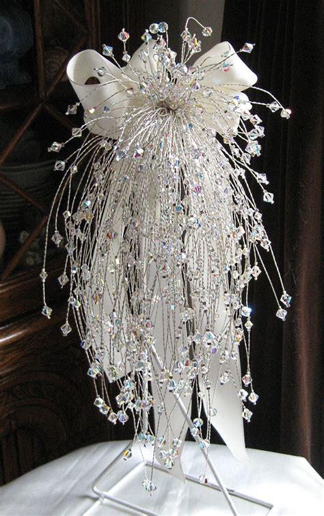Handmade Swarovski Ab Cascading Crystal Bouquet Table