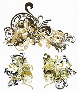 Vector Vintage Floral Design Elements | Free Vector ...