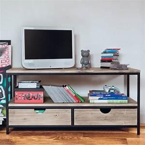 meuble tv bibliotheque design en 50 idees inspirantes With meuble tv maisons du monde 11 un bureau traditionnel