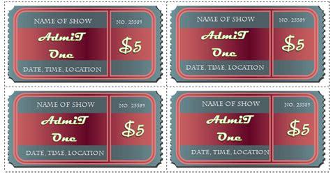 ticket templates  word  design