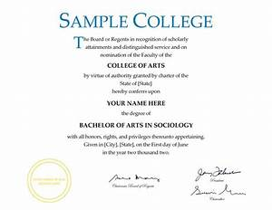 pics for gt blank college diploma With fake college degree template