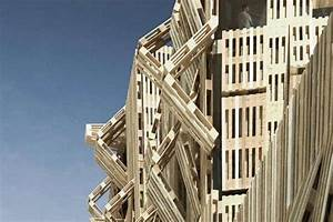 Stacked Stick Structures : Wood Pallet Facade by Stephane Malka