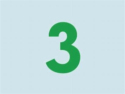 Number Three Animated Tres Emaze Cuki
