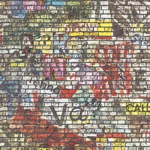 Leroy Merlin Papier Peint Brique : papier peint brique multicolore fonc intiss street art ~ Dailycaller-alerts.com Idées de Décoration