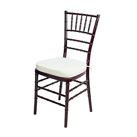 chiavari chair mahogany with ivory cushion