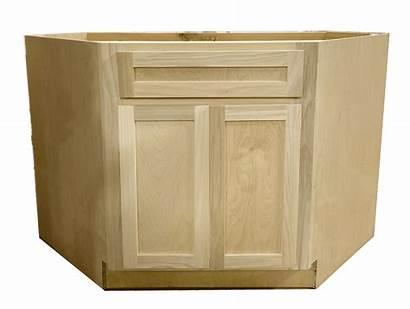 Corner Sink Cabinet Base Unfinished Diagonal 42