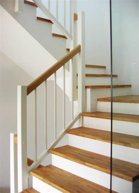 Treppengeländer Weiß Holz by Betontreppen Mit Holz Kliegl Treppenbau