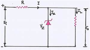 Explain With A Circuit Diagram  The Use Of A Zener Diode