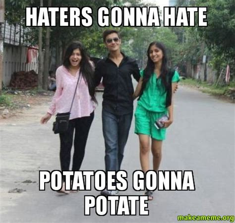 Haters Gonna Hate Meme Generator - haters gonna hate potatoes gonna potate make a meme