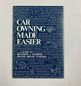 1973 Ford Car Owning Made Easier Manual Guide Handbook