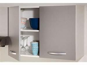 Conforama Meuble Cuisine Haut : meuble haut 80 cm 2 portes spoon color coloris gris vente de meuble haut conforama ~ Teatrodelosmanantiales.com Idées de Décoration