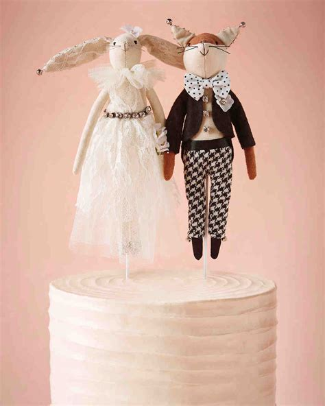 25 unique wedding cake toppers martha stewart weddings
