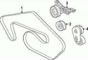 2014 - 2017 Jaguar F-type V8 5l  V6 3l Serpentine Belt Diagram