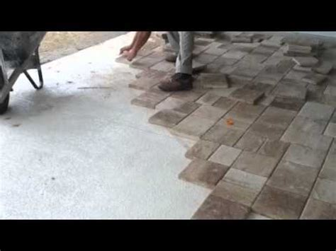 laying thin pavers  concrete youtube