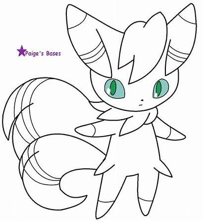 Base Meowstic Unicorn Lineart Pokemon Male Paige