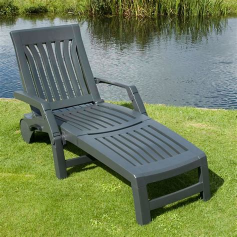 nettuno sun lounger in anthracite the uk s no 1 garden