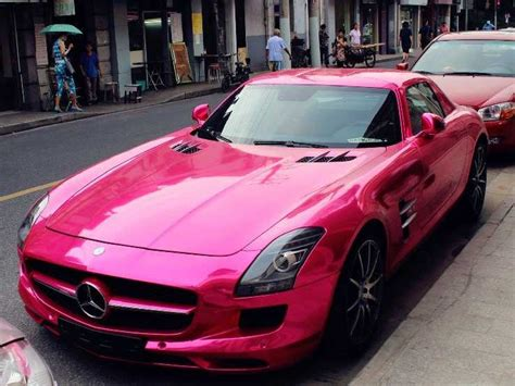 Hot Pink Sls Amg In China