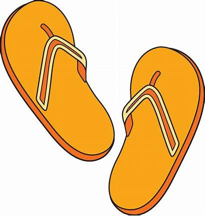 Orange Clipart Things Flip Objects Clip Flop