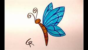 Learn How To Draw An Easy Cartoon Butterfly