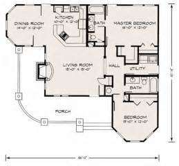 Delightful Small House Floor Plans With Porches by Farmhouse Style House Plan 2 Beds 2 Baths 1270 Sq Ft