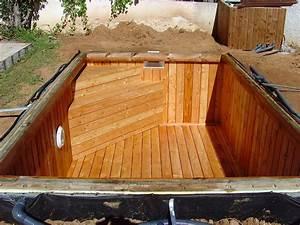 Pouf En Bois : proc d de fabrication unique pour les piscines en bois sans liner ~ Teatrodelosmanantiales.com Idées de Décoration
