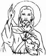 Coloring Jesus King Christ Savior Catholic Sheets Dessin Line Para Imagenes Imprimir Feast Sagrado Corazon Coeur Deirdre Coloriage Designlooter Colouring sketch template