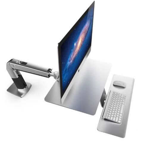 imac monitor desk mount sit stand imac desk doesn t need a vesa adapter