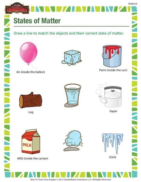 identifying states of solid matter worksheet states of matter printable science worksheets for 3rd
