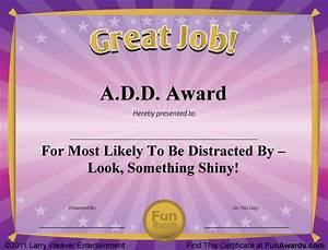 free funny award certificates templates sample funny With silly certificates awards templates