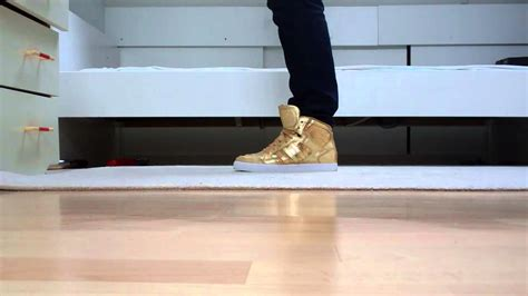 Adidas Neo Gold ( On Feet ) Justin Bieber Shoes
