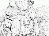 Baboon Coloring Animals Coloringtop sketch template