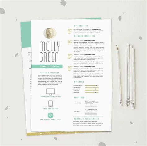 resume cv template cover letter design  word
