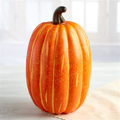 realistic artificial pumpkin fall and halloween
