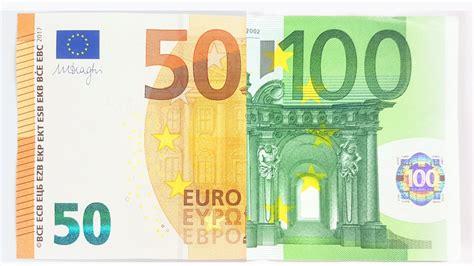 100 Euro Note Vs New 50 € Bill Comparison Youtube