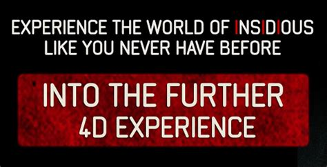 """""""Insidious: Chapter 3"""" – 'Into The Further 4D Experience ..."""