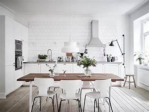 deco scandinave 50 idees pour decorer votre cuisine au With idee deco cuisine avec table de cuisine scandinave
