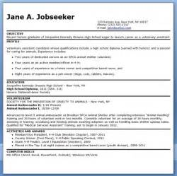 Vet Tech Resume Template by Veterinary Assistant Resume Exles Resume Downloads