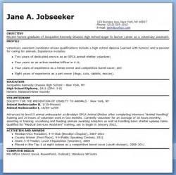 veterinary assistant resume exles resume downloads