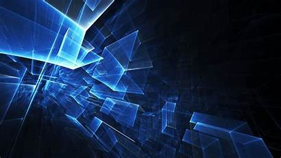 Neon Structure Line Cube Abstract Screen Desktop