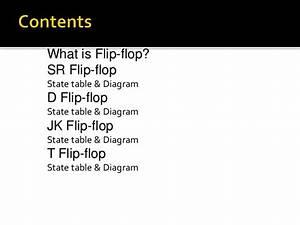 Flip Flop U2019s State Tables  U0026 Diagrams