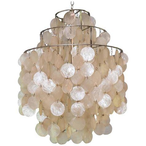 panton disk capiz shell chandelier for sale at 1stdibs