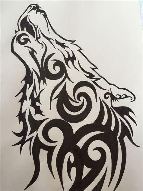 tribal wolf ideas  pinterest tribal wolf