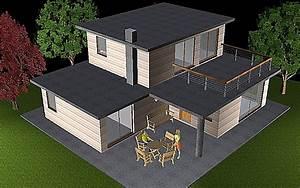 Plan Maison Pas Cher : deltawood promotion de maisons modulaire bbc ossature bois pas chere et de chalets bois bbc ~ Melissatoandfro.com Idées de Décoration