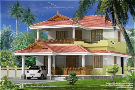 bed room traditional villa  sqfeet home kerala plans