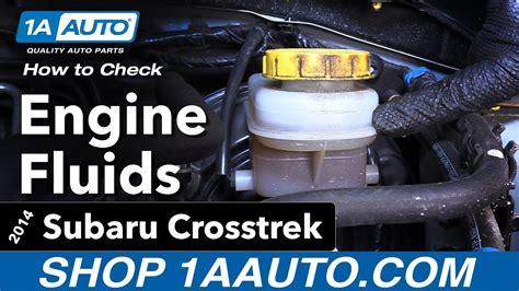 How To Check Fluids 14-17 Subaru Crosstrek
