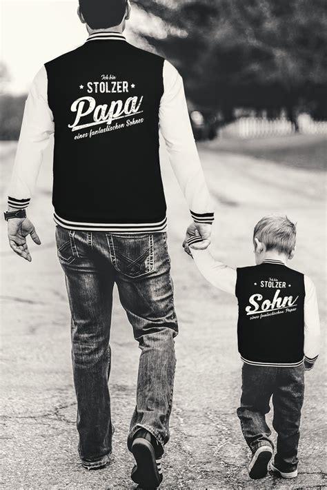 papa sohn papa sohn im partnerlook s 252 223 e collegejacke familien shirts mit herz und liebe shirts