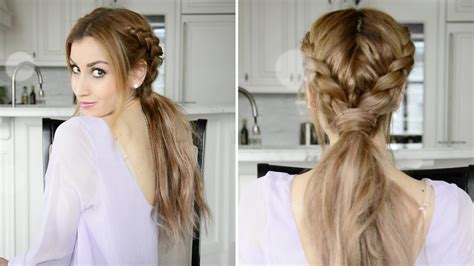 messy braided boho ponytail hairstyle fancy hair