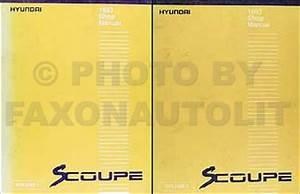 1993 Hyundai Scoupe Electrical Troubleshooting Manual Original