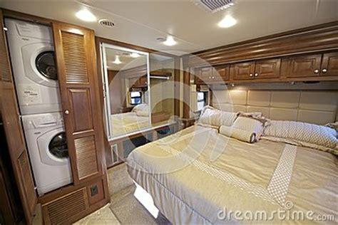 rv bedroom stock photo image