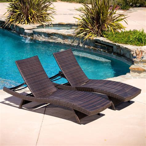 lakeport outdoor adjustable chaise lounge chairs set of 2